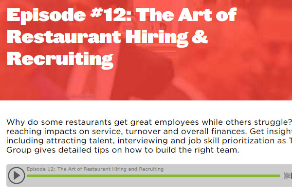 The Art of Restaurant Recruitment
