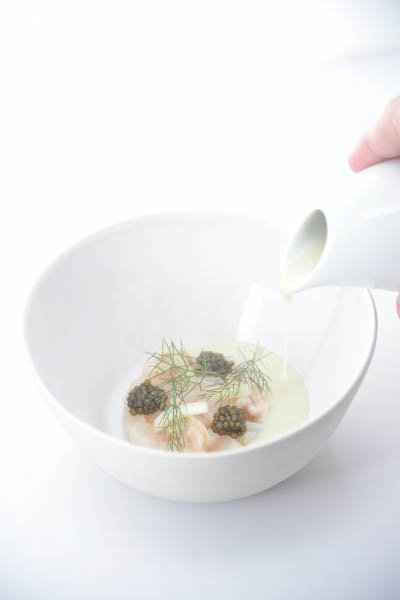 Scallop Tartare With Walnut Nage