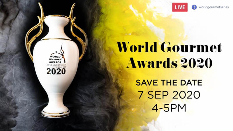 World Gourmet Awards Virtual Trophy Presentation To Be Streamed Live September 7th!