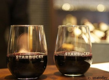 Wine at Starbucks: Start of a trend?