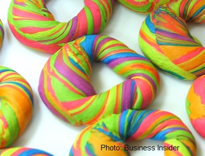 Rainbow Bagels Are Here
